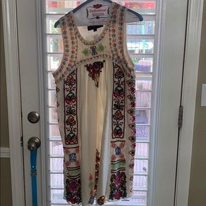 Anthropologie Embroidered Dress
